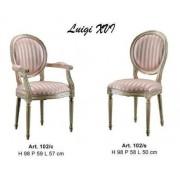 Scaun 102/C LUIGI XVI stofa cu brate vopsit