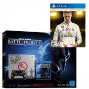 Конзола PlayStation 4 1TB Limited Star Wars Battlefront 2 Design inkl. Star Wars Battlefront II Elite Trooper Deluxe +Игра FIFA 18 Ronaldo edition