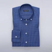 Tailor Store Blå Oxfordskjorta med vita rutor