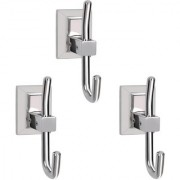 Doyours Stainless Steel Glossy Robe Hooks - 3 Pcs