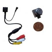 Microcamera/Micro camera/Telecamera CCD a colori con microfono