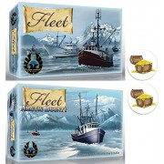 BUNDLE of Fleet Base Card Game and Arctic Bounty Expansion Plus 2 Treasure Chest Buttons