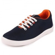 Fausto Women's Navy Blue Lace Up Sneakers Casual Shoes
