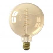 Calex LED Full Glass Flex Filament Globe Lamp E27 G125 - Gold