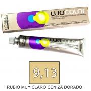 Loreal Tinte LUOCOLOR 9,13 de 50ml RUBIO M CLARO CEN DORADO