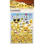 Unique Emoji Party Invitations, 8ct