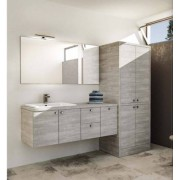 Mobilduenne Salle de bain mobile avec support lave-linge séchant et évier 215 cm - Chêne rou