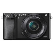 Aparat Foto Mirrorless Sony A6000 (Negru) + obiectiv SEL 16-50mm, 24.3 MP, Wi-Fi