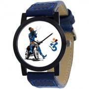 IDIVAS 111 Blue Synthetic Strap White Dial Analog Watch For Men 6 MONTH WARRANTY