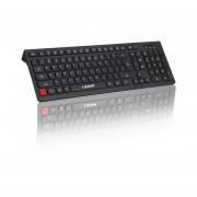 EY LESHP Chocolate ultra delgado teclado Wired Desktop Office Home Juegos Mute Slim-Negro