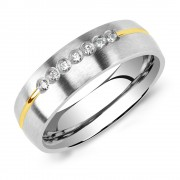 Silvego Snubní ocelový prsten pro ženy PARIS - RRC2048-Z