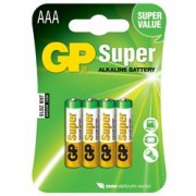 Gp Batteries Blister 4 Batterie AAA Mini Stilo GP Super