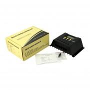 EY Controlador de carga solar portátil cargador de batería automático regulador PWM 12V 24V-Negro