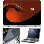 Finearts Laptop Skin 15.6 Inch With Key Guard & Screen Protector - Hp Design Orange