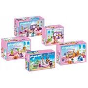 Playmobil Furniture Set for 6848 Grand Princess Castle - 5 Pcs.: 6850, 6851, 6852, 6853, 6854