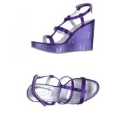 Hogan FOOTWEAR Purple Woman Textile fibres - Purple - Size: 3.5