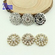 Magideal 10x Double Row Hollow Out DIY Crystal Rhinestone Conchos Accessories Golden