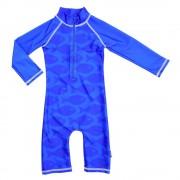 Costum de baie Fish Blue marime 62-68 protectie UV Swimpy