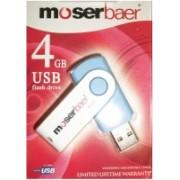 Moserbaer USB Drives 4GB swivel 4 GB Pen Drive(Blue)