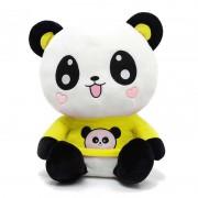 Cute Happy Panda wearing beautiful Yellow Baby Panda T-shirt