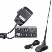 Kit Statie radio CB Midland M Zero Plus plus Antena PNI Extra 48 cu magnet