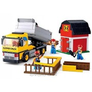 Sluban Dumper Truck - 384 Pieces (Brand New in Original English Box) 100% Lego Compatible - Educational Toy - Building Bricks Construction Series M38-B0552