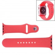 Voor de Apple Watch Sport 42mm High-performance Rubber Sport horlogeband met Pin-en-tuck Closure(Pink)