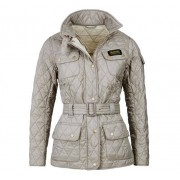 Barbour International Quilt Jacket Dam, 34, Taupe