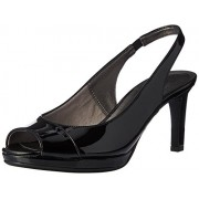 LifeStride Women's Invest Dress Sandal, Black, 12 M US