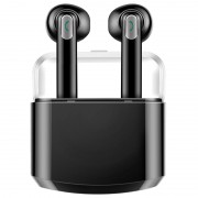 TWS Mode Bluetooth Earphones with Charging Case BTH-X8 - Black
