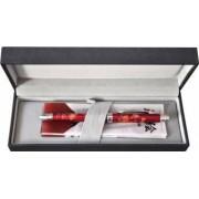 Pix multifunctional de lux PENAC Maki-E - Sensu in cutie cadou, corp bordeaux