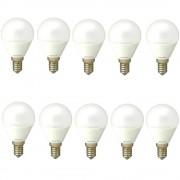 Set 10 Becuri Led E14 4W Lumina calda DLF 3041