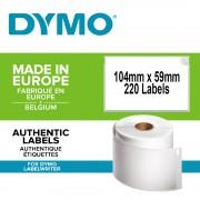 Etichete termice DYMO LabelWriter transport logisitica doar pentru LW 4XL permanente 104mmx59mm hartie alba 1 rola cutie 220 etichete rola 904980 S0904980 S0947420