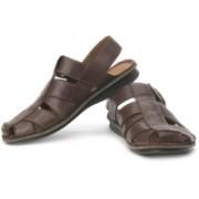 Clarks Men Ebony Leather Sports Sandals