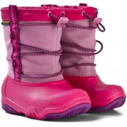 Crocs Kids' Swiftwater Waterproof Boot Party Pink/Candy Pink 28-29