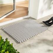 pad home design Gevlochten mat, 72 x 52 cm - beige/wit