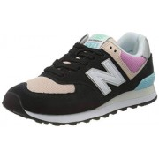 New Balance Women's 574v2 Sneaker, Wax Blue/Varsity Gold, 11 B US