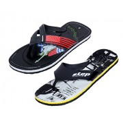 Indistar Men Step Care Comfortable Flip Flop House Slipper And Hawaai Chappal Office Slipper-Black-7 IND/UK- Pack Of 2 Pairs