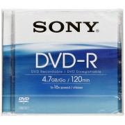 Sony DVD-R 4,7GB 16x Speed, Jewel Case
