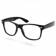 EverShade Schwarze Retro Brille Mit Transparenten Brillengläsern