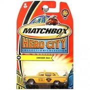 Matchbox Hero City NYC New York City Checker Taxi Cab #41 Yellow