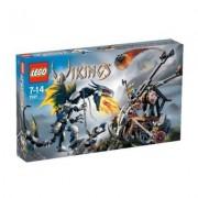 Lego Vikings Double Catapult Vs. The Armored Ofnir Dragon (7021)