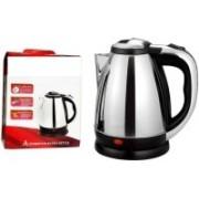 Wonder World ™ Cordless Hot Water Coffee Tea Pot Boiler Kitchen Anmol Electric Kettle(1.7 L, Silver)
