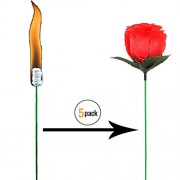Fancyku Magic Trick Fire To Rose Flower for Stage Property Performance Show Party Lover's Gift 5 Pcs