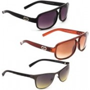 DKB Aviator, Sports, Wayfarer Sunglasses(Black, Brown, Grey)