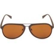 marc louis Oval Sunglasses(Brown)