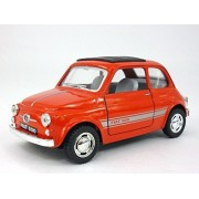 Classic Fiat 500 1/24 Scale Diecast Metal Model - RED