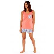 Pijama dama Paisley, din bumbac