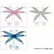 Aripi Fluture, 55 cm, alb/roz/albastru - Cod 53704