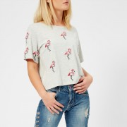 Guess Women's Flamingos T-Shirt - Noir/Dusty Grey - XS - White